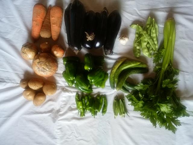 今週の産直野菜 (7月8日)